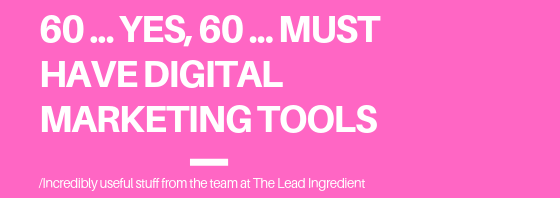 60 must have digital marketing tools